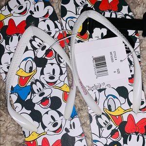NWT: classic Disney flip flops shoes size 8